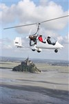 Survol du Mont Saint Michel et de sa baie en Gyrocopt&#232;re - Normandie ULM Mont Saint Michel