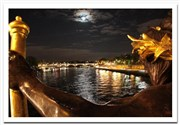 Photo tour : Paris by night | par shoot the city M�tro Palais Royal Mus�e du Louvre Affiche